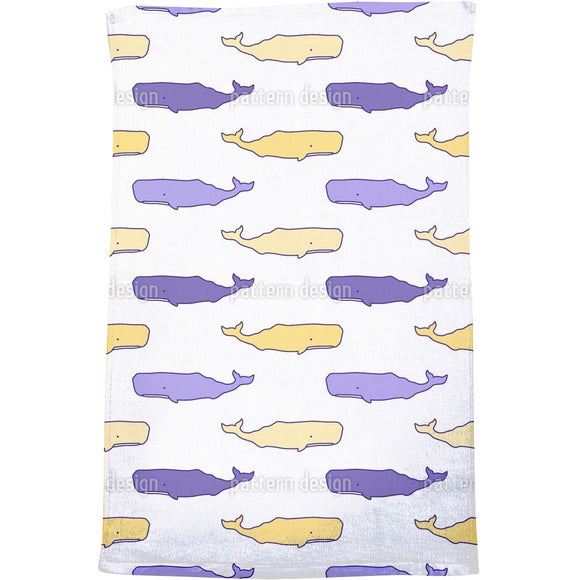 Cute Whales Bath Towel