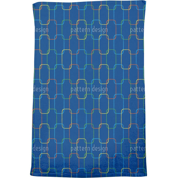Geometric Chain Ornaments Bath Towel