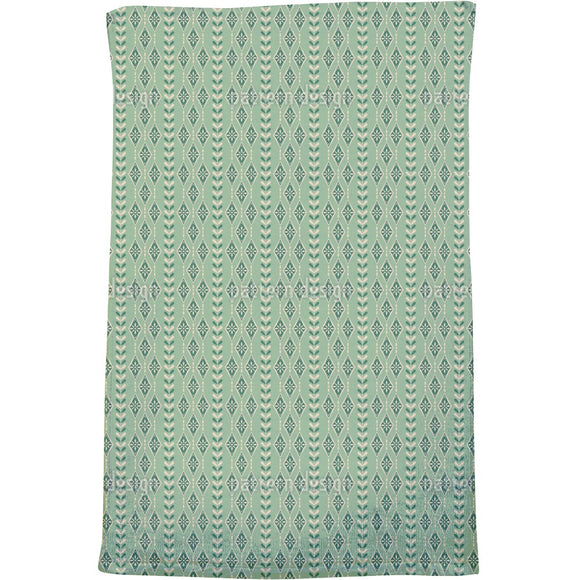 Vintage Snowflakes Stripes Bath Towel