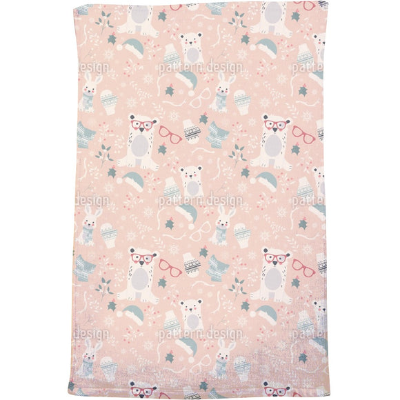 Xmas In The Woods Bath Towel