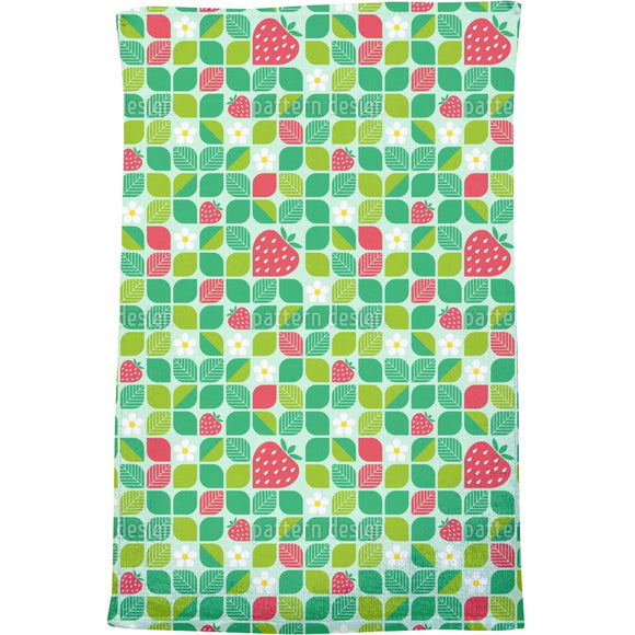 Rounded Shapes and Strawberries Bath Towel