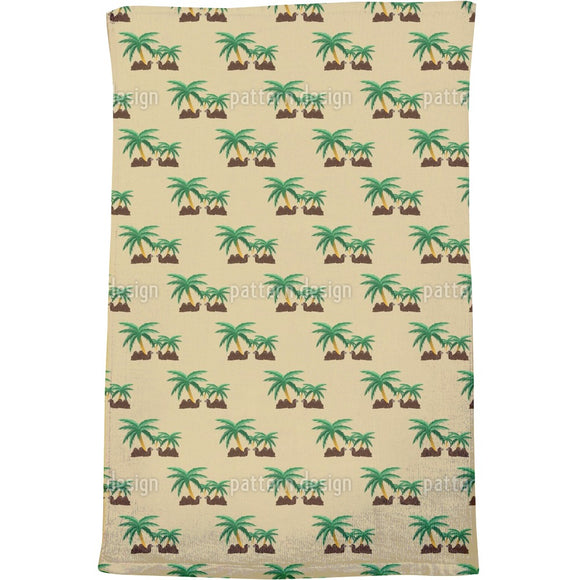 Camels in an Oasis Bath Towel