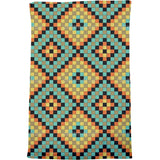 Colorful Mosaic Tiles Bath Towel