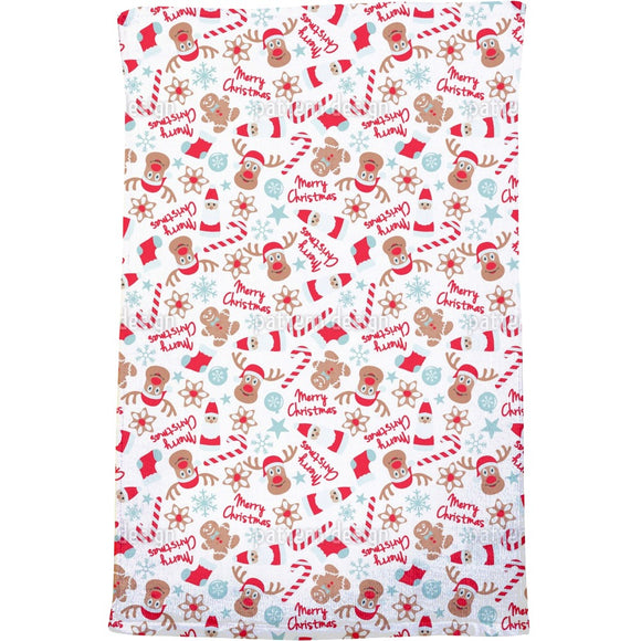 Christmas with Elks Bath Towel