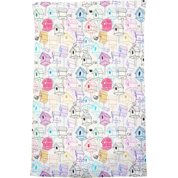 Bird Houses  Bath Towel