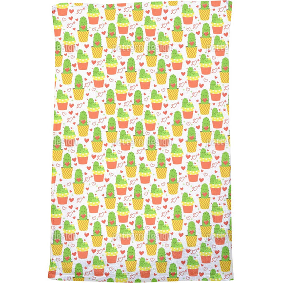 Loving cactus Bath Towel