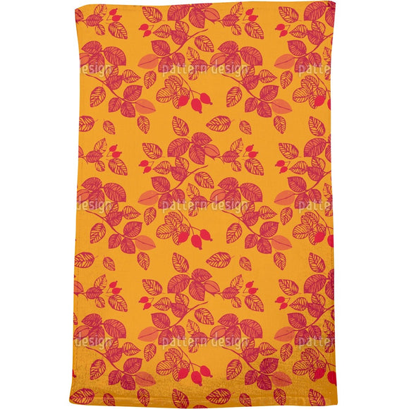 Rosehips in autumn Bath Towel