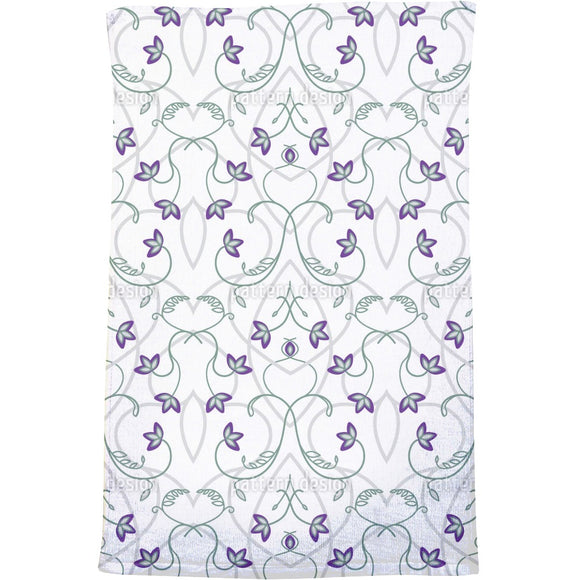 Flowers On The Gothic Gate Bath Towel