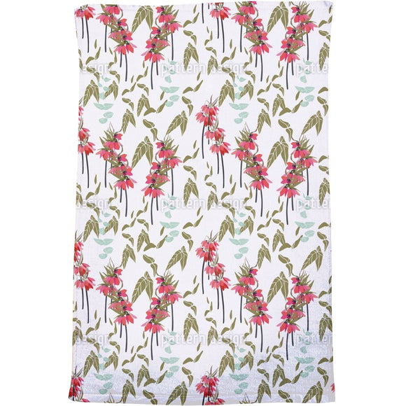 Lovely lilies flowers and leaves Bath Towel