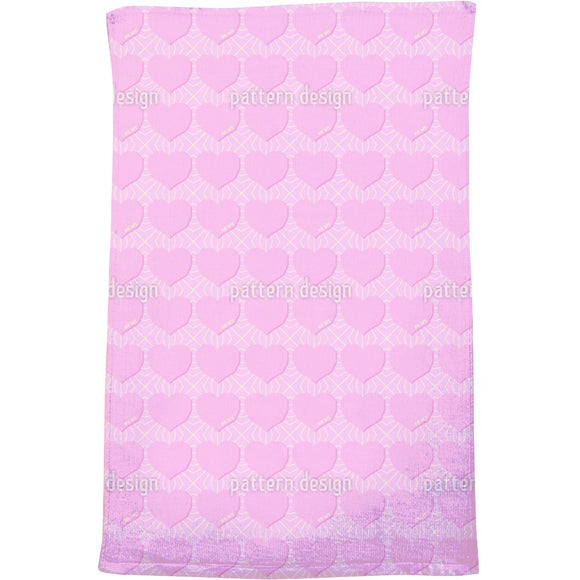 Angular Hearts Bath Towel
