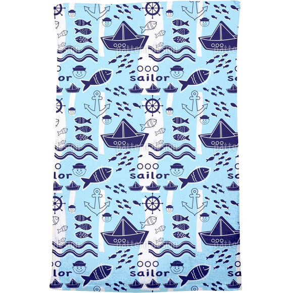 Little Sailor Bath Towel