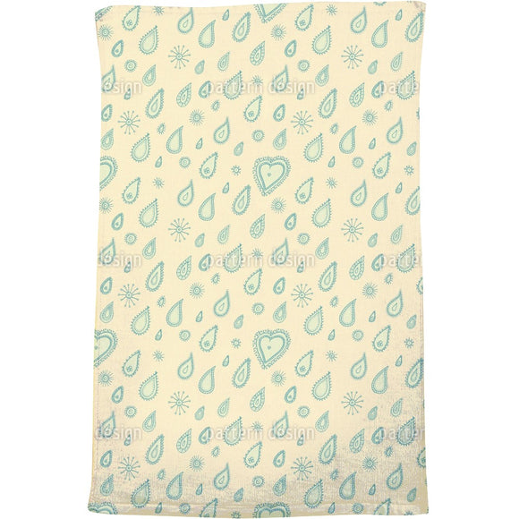 Yellow Summer Rain Bath Towel