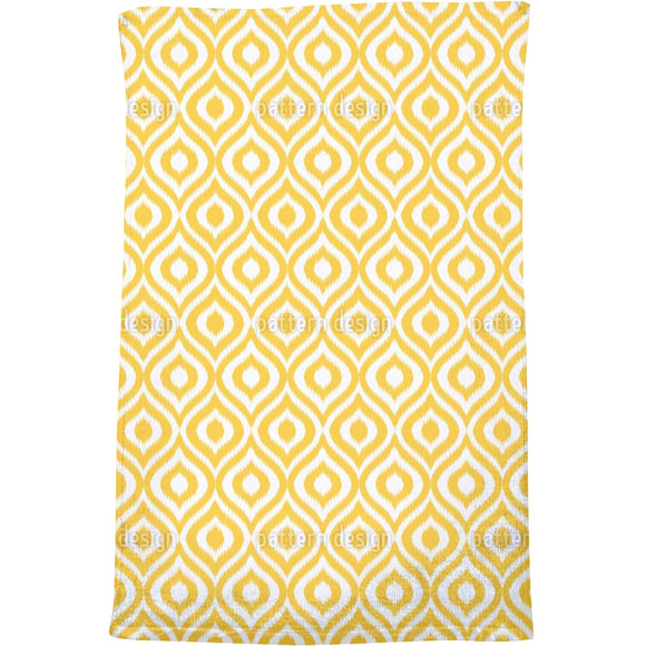 Yellow Ogee Damask Bath Towel