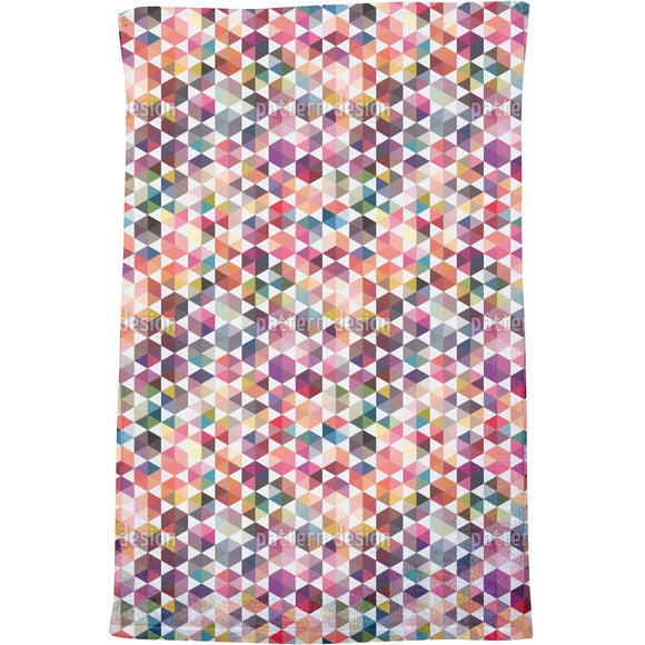 Hexagon Facets Bath Towel
