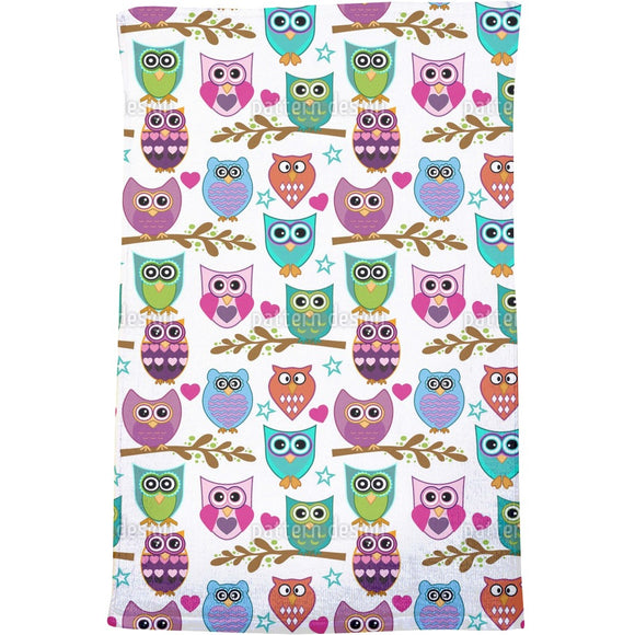 The Big Owl Assembly Bath Towel