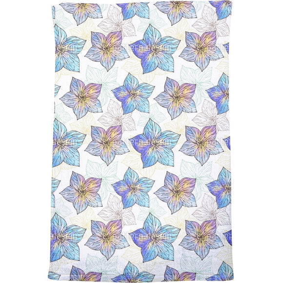 Watercolor Hibiscus Bath Towel