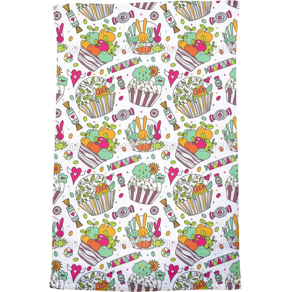 Colorful Cup Cake World Bath Towel