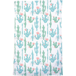Blooming Cactus Bath Towel