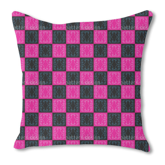 Pop Art Baroque Tiles Burlap Pillow