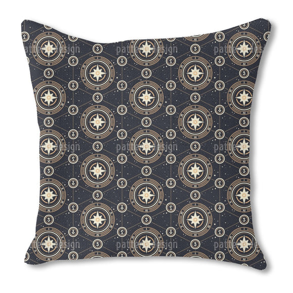 Strange Alchemic Symbols Burlap Pillow