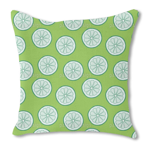 Lime Burlap Pillow