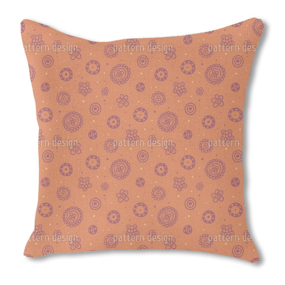 Flower Fun Burlap Pillow