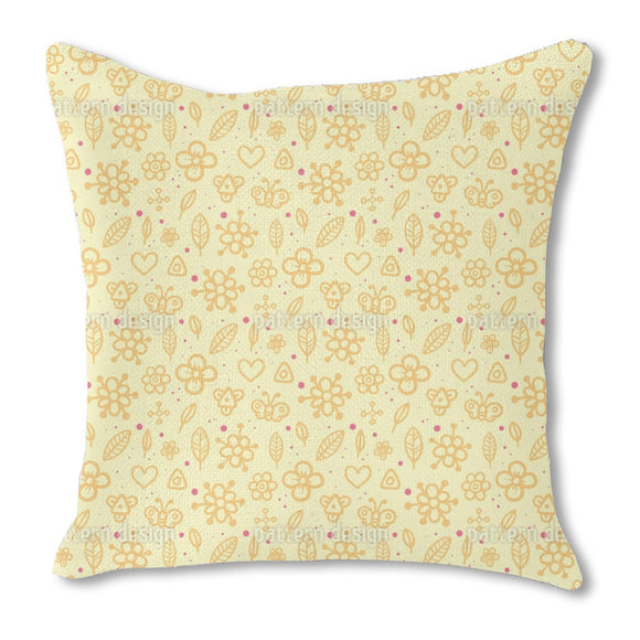 Childhood Summerdays Burlap Pillow