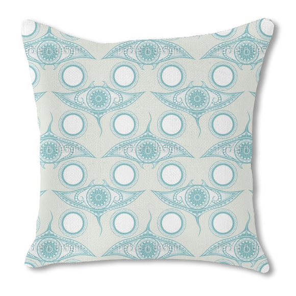 Eye Of The Ocean Burlap Pillow