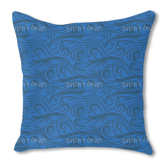 Brisk Waves Burlap Pillow