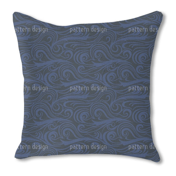 Brisk Waves Ozeania Burlap Pillow