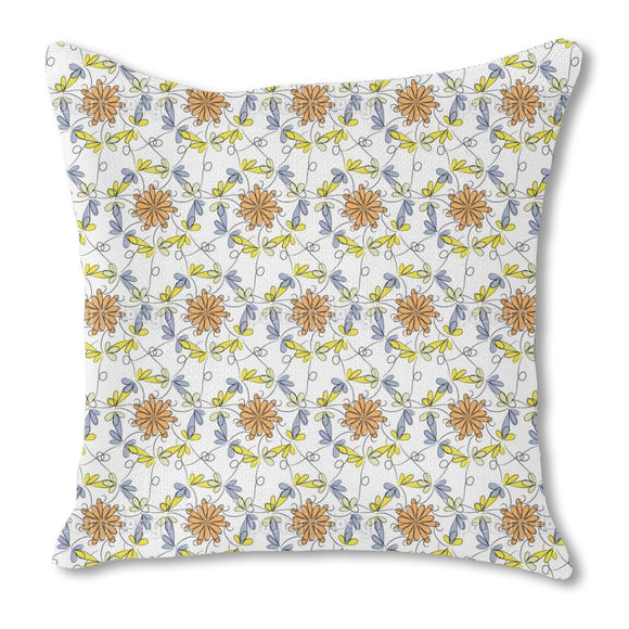 Flower Dance Burlap Pillow