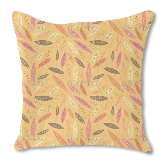 Funny Falling Autumn Leaves Burlap Pillow