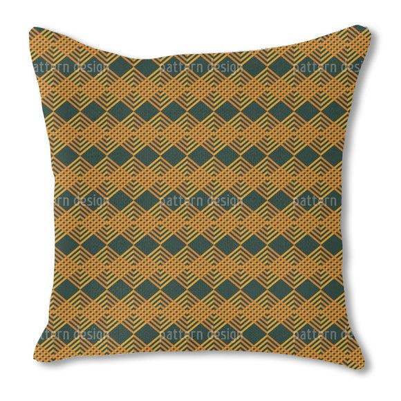 Woven Ribbons Burlap Pillow