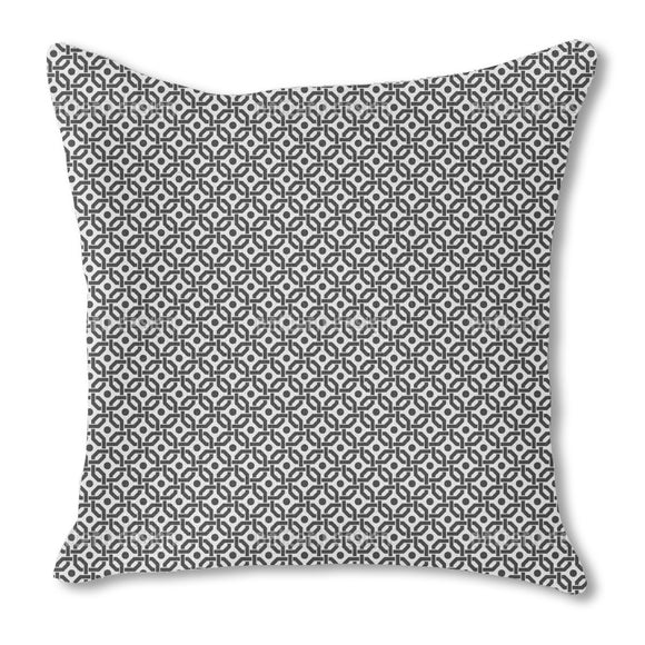 Grid With A View Burlap Pillow