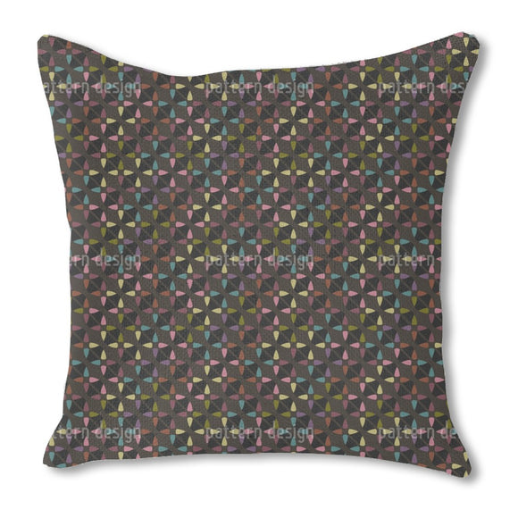 Nighttime Abstract Stars Burlap Pillow