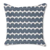 Ikat And Shibori Burlap Pillow