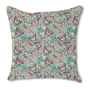 Butterflies With Shadows Burlap Pillow