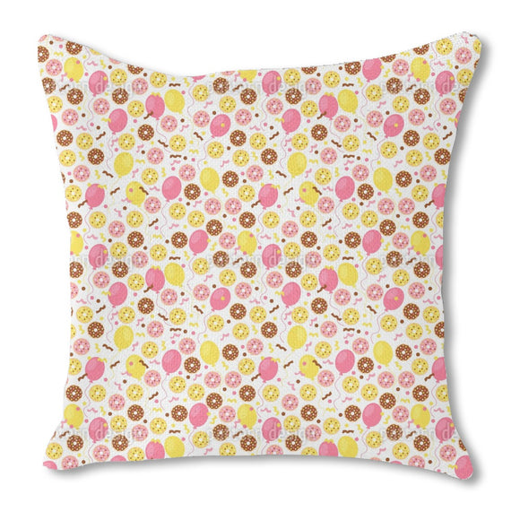 Donut Celebration  Burlap Pillow