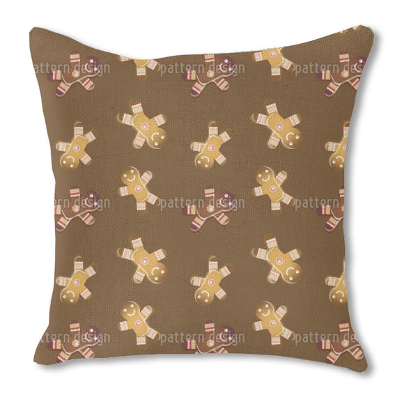 Gingerbread men cookies Burlap Pillow