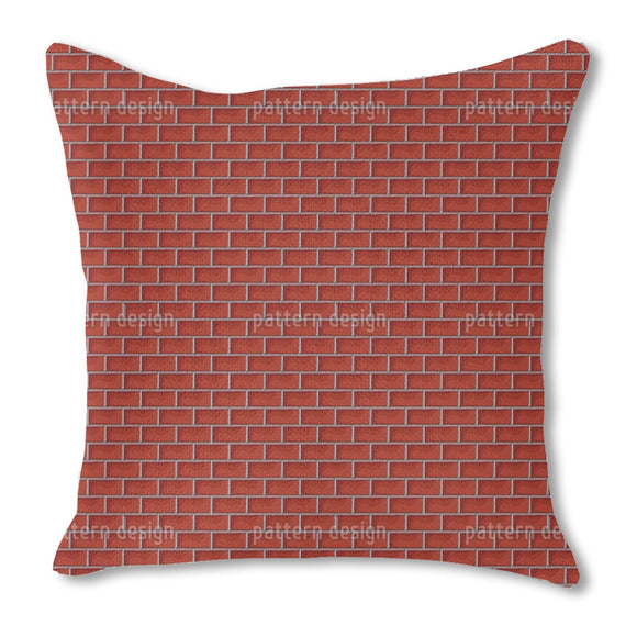 Wall Of Bricks Burlap Pillow