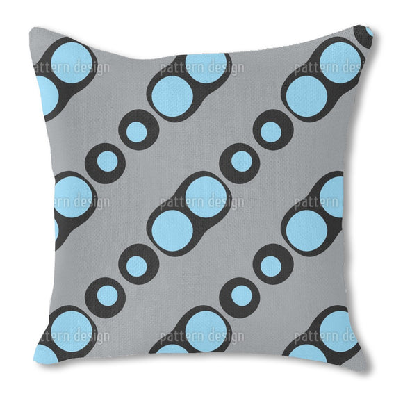 Bubbles in Bubbles Burlap Pillow