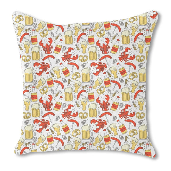 Drink a toast to Octoberfest Burlap Pillow