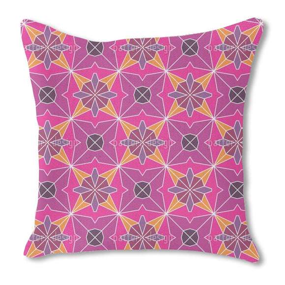 Polygonal Formations Burlap Pillow