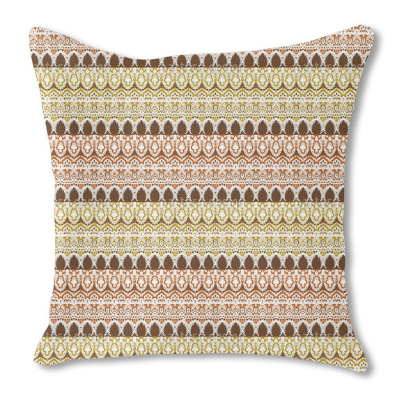 Noble Bordure Burlap Pillow