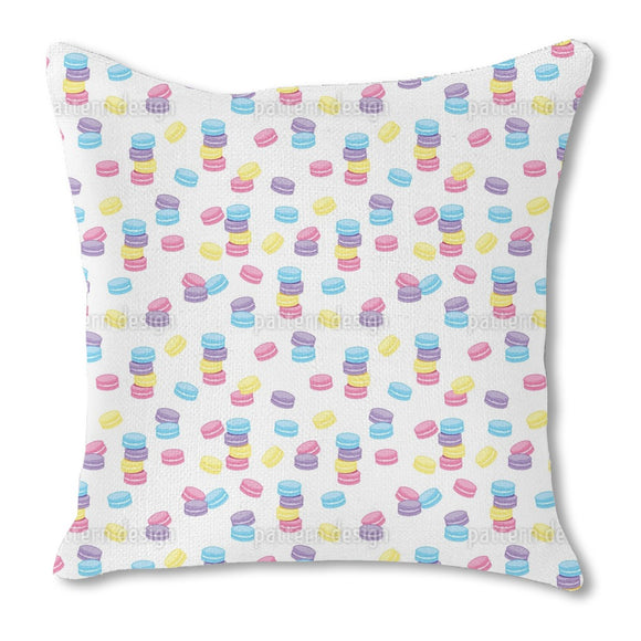 Macaroon Party Burlap Pillow