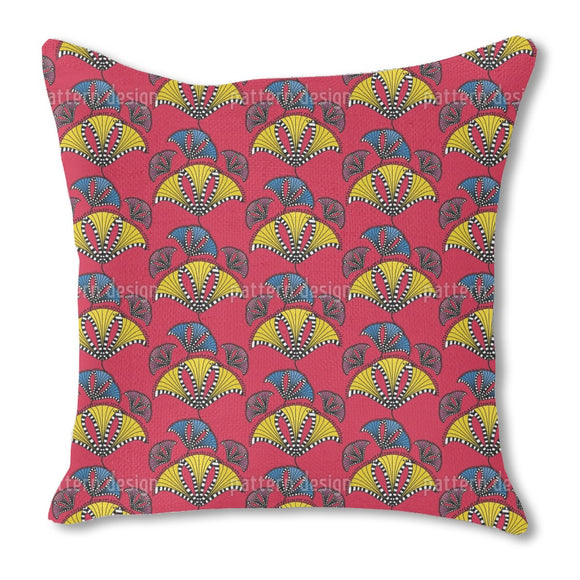 Abstract African Kites Burlap Pillow