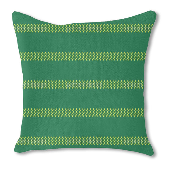 Simple Striped Burlap Pillow