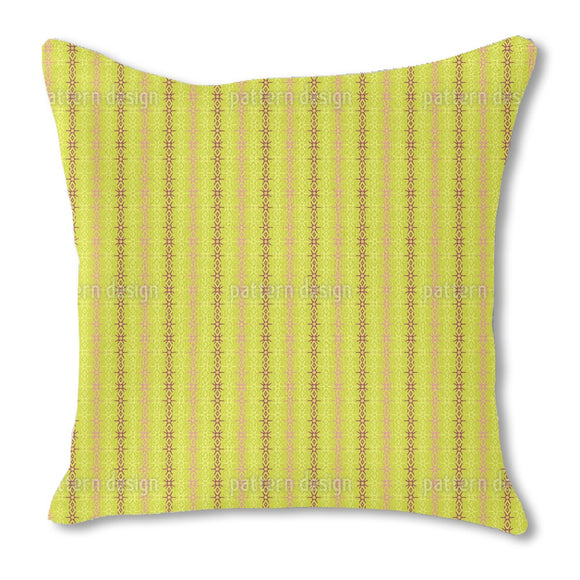 In terms of stripes Burlap Pillow