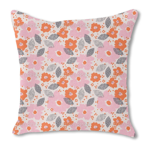 Technodot blossom Burlap Pillow