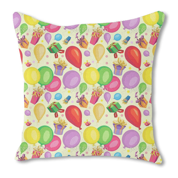 Gifts and balloons Burlap Pillow